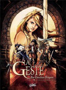 Couverture de La Geste des Chevaliers Dragons -24- Les Nuits d'Haxinandrie