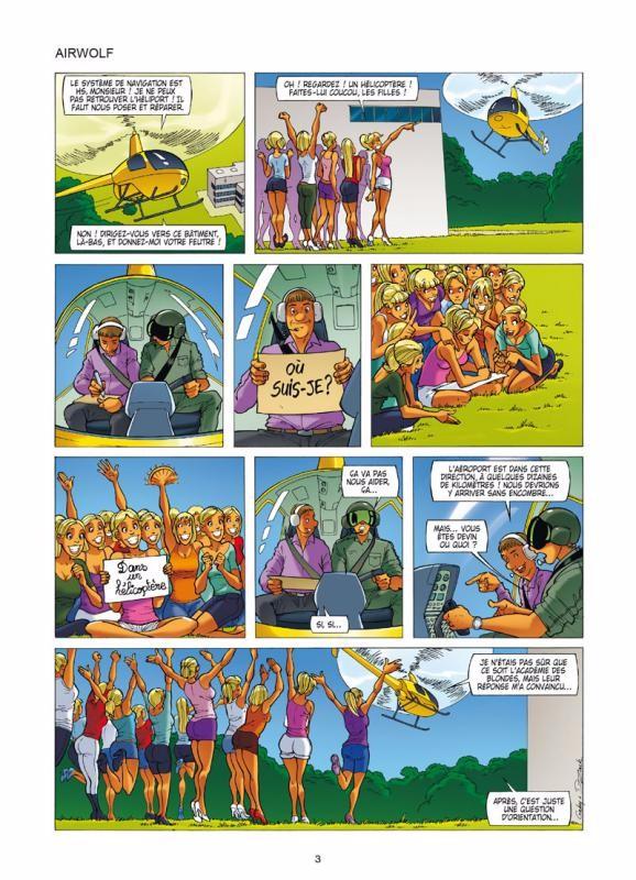 Planche de la page 3 de la BD Les Blondes Tome 25